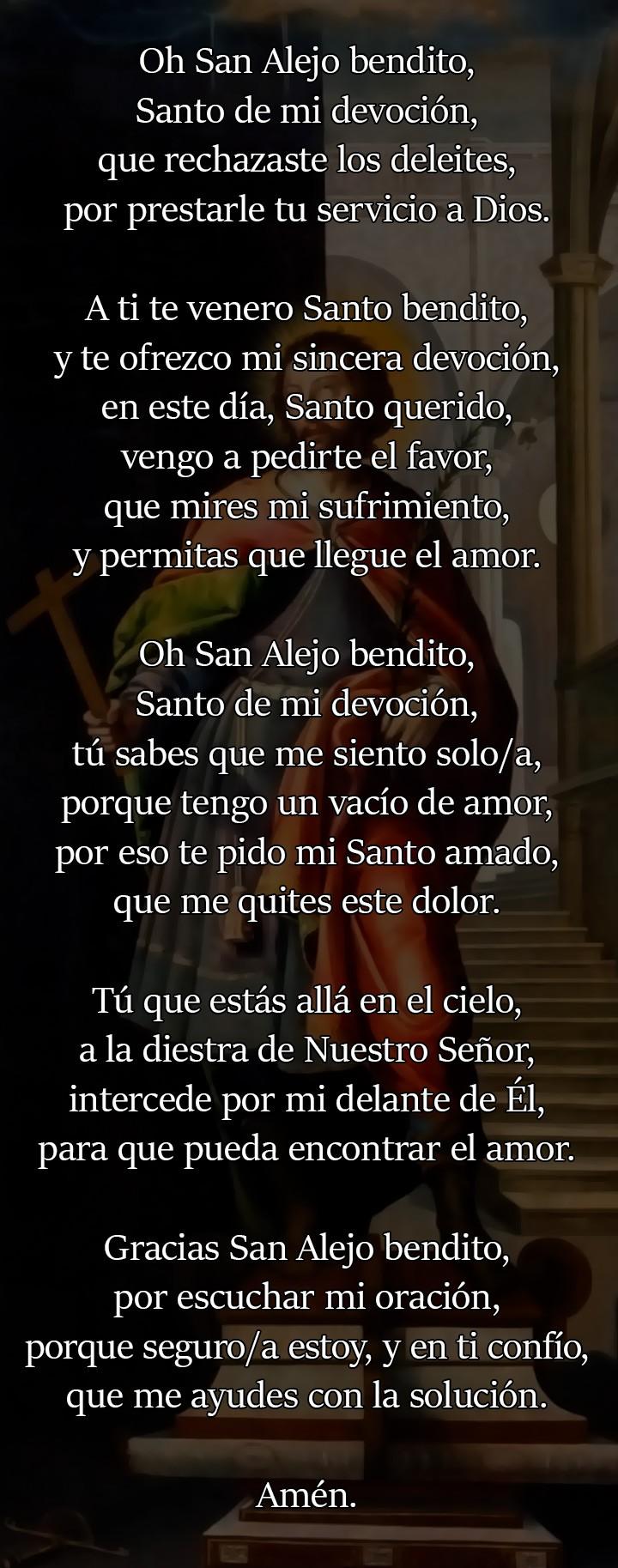 Oración a San Alejo para el amor